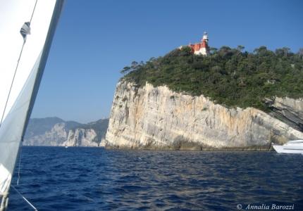 Italy - Portovenere - Isola del Tino - Falesia calcarea