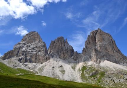 The typical morphology of the Dolomites (Sassolungo Group)